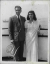 Maharaja of Jaipur Sawai Maan Singh II with his wife Maharani Gayatri Devi while arriving in New York by ship in 1948