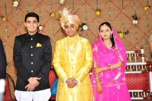 Kumar Shri Kartiksinhji L. Raol of Bhavnagar, Rajkumar Rajvikram Singh Deo  & Lal Sahiba Ambica Kumari Devi of Seraikella