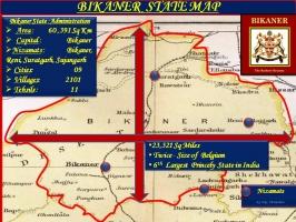 Bikaner State Map