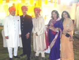 Dompada Royal Family with Maharaja Shri Praveen Chandra Bhanj Deo (Mayurbhanj) and Saheb Mardaraj (Nilgiri Pattayat)
