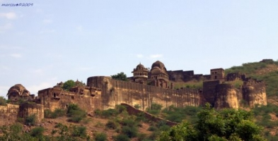 Indargarh Fort from side, Bundi