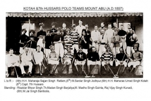 Kotah and 7th Hussars Polo Teams Mount Abu 1897