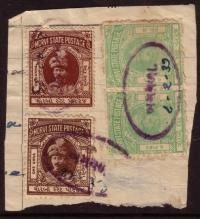 Morvi State Postage Stamp
