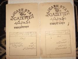 Rajgarh State Gazette