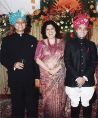 Maharajkumar sahib Jairaj Singh Deo, Rani Sahiba Ruponanda Devi & Lal Sahib Rajvikram Singh Deo of Seraikella