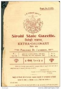 Sirohi State Gazette