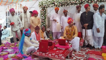 Tika ceremony of Karni Singh Sodha held at Rana Jagir, Amarkot on 7th Dec 2014 (Amarkot)