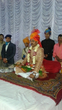 Kr. Ravi Pratap Singh Ranawat during his wedding