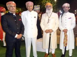 Kunwar Sahib Ranjai Singh ji, Thakur Sahib Raghuraj Singh ji, Shriji Arvind Singh of Mewar and Kunwar Sahib Sanjay Singh ji