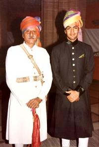 Thakur Bhawani Singh Ji with Yuvraj Shivraj Singh Ji Jodhpur