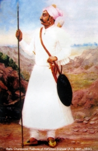 Ballu Champawat Rathore of Harsolaw