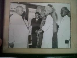 Th.Bhawani Singhji with Jam saab Digvijay Singhji of Jamnagar (Balunda)