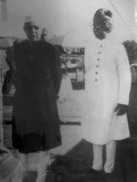 Thakur Bhawani Singhji with Pandit Jawar Lal Nehru
