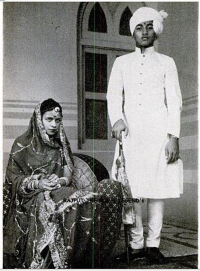 HH Maharawal JAIDEEPSINHJI SOBHAGSINHJI with HH Maharani Prem Kumari
