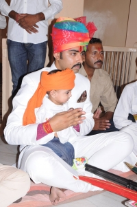Rawat Tribhuwan Singh Rathore with his son Dhruvraj Singh Rathore