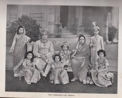 H.H. Maharaja Pratap Singh Gaekwad with family, 1939