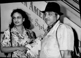 Maharaja of Baroda Pratapsinhrao Gaekwar with his wife Sita Devi on a vacation