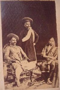Maharani Shrimant Akhand Soubhagyavati Jamnabairaje Sahiba Gaekwad with her husband Maharaja Khanderao Gaekwad