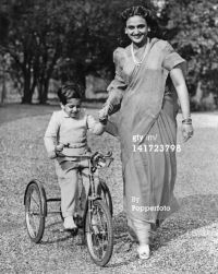 Maharani Sita Devi with son Princy