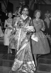 Monaco, 1958, Sita Devi, Maharani of Baroda after her divorce with Maharaja Sir Pratapsinhrao Gaekwar happened in 1956