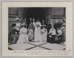 The Maharaja and Maharani of Baroda and party on the Terrace of the House of Commons