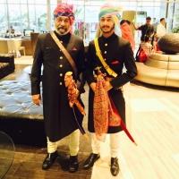 Maharaj Rao Dr. Sumer Bahadur Singh with Maharaj Jasmer Bahadur Singh