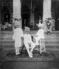 Maharaja Raol Shri Sir KRISHNAKUMARSINHJI BHAVSINHJI with his brothers, 21 March 1922