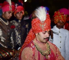 Yuveraj Shree Jayveerrajsinhji during his wedding