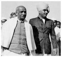 Maharaja Krishnakumarsinhji With Sardar patel