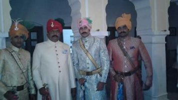 Kunwar Devraj Singh, Kunwar Rishiraj Singh and Kunwar Ajayraj Singh of Bhukarka