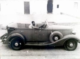 Rao Saheb Amar Singhji driving a Pontiac
