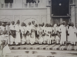 HH Maharaja Ganga Singhji of Bikaner and Maharaj Kumar Sadul Singhji alongwith Nobles of Bikaner incl Sirayat of Mahajan, Rawatsar, Bidasar and Bhukarka.