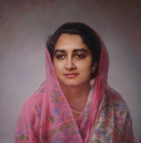 HH Maharani Sushila Kumari, wife of HH Maharaja Dr. Karni Singhji Bahadur