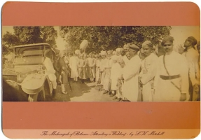 Maharaja of Bikaner attending a wedding