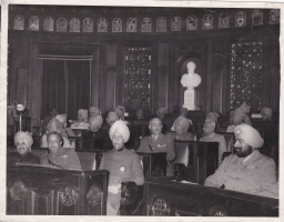 H.H.Maharaja Patiala with other Rajas and Maharajas, Raja Anand Chand sitting in third row