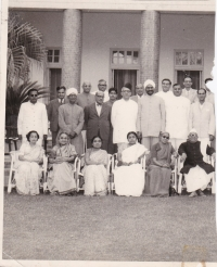 H.H.Raja Anand Chand standing with members of Parliament, Delhi