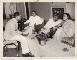 H.H.Raja Sir Anand Chand Bilaspur with Ashok Mehta and Gurupada Swamy, Delhi
