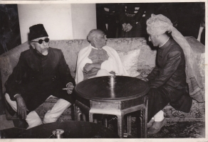 H.H.Raja Sir Anand Chand of Bilaspur with Sardar Vallabhbhai Patel and Mohamad Ali Jinnah in Delhi