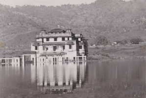 New Palace and Temple, built with great Devotion and Care by H.H.Raja Sir Anand Chand, now being devoured by Bhakra Dam