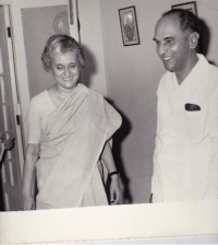 Prime Minister Indira Gandhi and H.H.Raja Sir Anand Chand in Parliamentary Bunglaw, Delhi