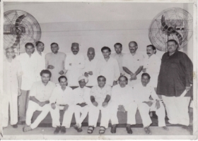 Raja Sir Anand Chand (2nd sitting) with other Maharajas