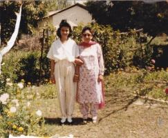 Rajakumari Sunanda Chand with her sister Late Rajkumari Rajeshwari at Bilaspur