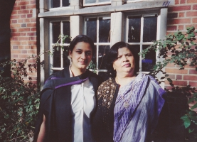 Rajkumari Dr. Sunanda Chand after MBBS,MRCGP ceremony with Rajmata Lady Sudarshana Chand