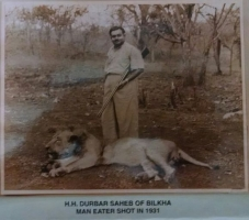 HH Darbar Shri Rawat Kanthad Wala on Lion shoot in Gir Forest, Gujrat