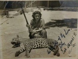 Rani Nirvana Devi on Leopard Shoot