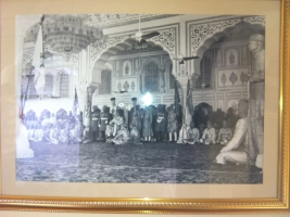 Major Rawal Raghubir Singhji of Bissau at Jaipur Durbar