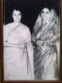 Rani Sahiba Sharda Devi of Bissau with Indira Gandhi