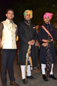Yuvraj Eklavya Singh ji of Bissau (centre) & Kunwar Aanjneya Singh ji of Bissau (right)