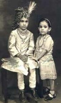HH Maharao Raja Shri Ranjit Singhji Bahadur and Maharajkumari Mahendra Kumari