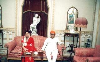 Late H.H Rajmata Nirmal Kumari and Late H.H Virendra Sinhji Chauhan